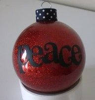 Ornaments --  Could do CTR, or I am A Child of God to go with the theme #Christmas #thanksgiving #Holiday #quote