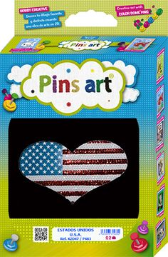 Kit Pins Art USA - DIY - Hand made with love