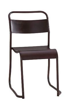 Tuoli, metallia ja peltiä. Teollistyylinen malli. Korkeus 86 cm, leveys 45 cm, syvyys 52 cm. Istuinkorkeus 48 cm. Istuinsyvyys 38 cm. Toimitetaan koottuna. <br><br>