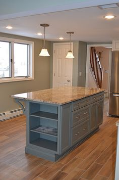 traditional kitchen island by chase building group via flickr