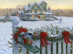 """Christmas Street"" by Thomas Kinkade 1/26/14"