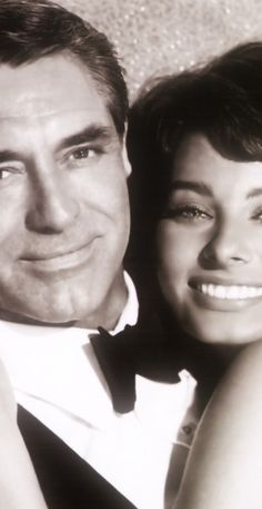 "Cary Grant and  Sophia Loren ~ ""Houseboat""."