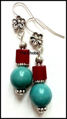 Turquoise earrings Turquoise Earrings, Beautiful Earrings, Drop Earrings, Jewelry, Fashion, Moda, Jewlery, Jewerly, Fashion Styles