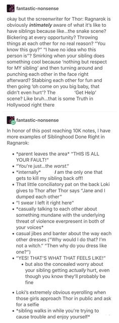 Thor Ragnarok perfectly describes what it's like to have siblings