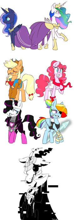 Mlp as Undertale. I never thought of Discord as Gaster, nut it works! I would switch Apple Jack and Pinkie Pie though.