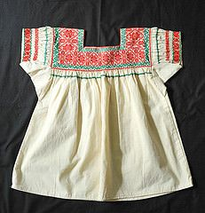 Mexico Nahua Blouse Hueyapan Puebla (Teyacapan) Tags: mexico clothing embroidery mexican textiles puebla blouses blusas nahua hueyapan
