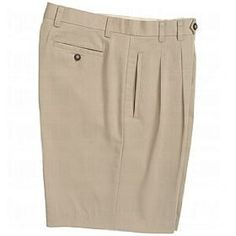 Cutter & Buck Mens Gabardine Double Pleat Shorts