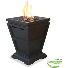Gas Outdoor Table Top Fireplace Backyard Firepit Yard Summer Patio Deck Fire BBQ