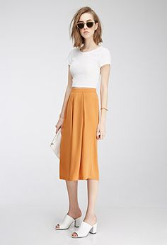 Pleated Gaucho Pants | Forever21 - 2000098700