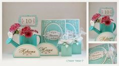 wedding invitation set in teal color wedding invitations, bombonieres, place cards, table numbers