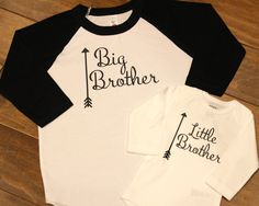 Big Sister Little Sister Shirt Big Brother by sweettulipsboutique Big Sister Big Brother Shirts, Big Sister Little Sister, Little Sisters, Sibling Shirts, Baby Shirts, Onesies, Different Fabrics, New Baby Products, Manualidades