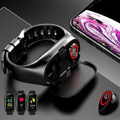 There is always many products on sae upto - TWS Bluetooth Earphone Wireless Headphones for phone Smart Watch with Heart Rate Monitor True Wireless Stereo Sports Earbuds - Pro Buyerz Smartwatch, Futuristic Technology, Wearable Technology, Wearable Device, Futuristic Shoes, Cool Technology, Sport Earbuds, Wireless Headphones, Smart Bracelet