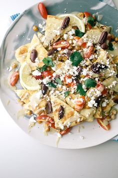 Greek Goddess Nachos