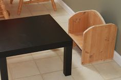 Montessori Beginnings: Montessori weaning table and chair