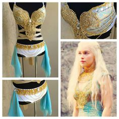 Game of Thrones rave bra outfit. by Electric Laundry.  Want Want Want for Lights All Night this year!!