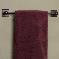 Solid Bronze Towel Bar with Square Base