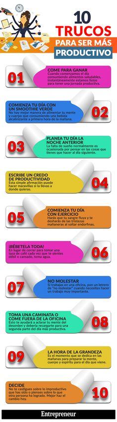 10 trucos para ser más productivo #infografia