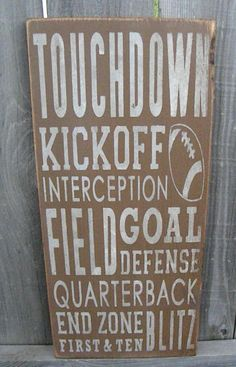 Fathers day sale Football Typography Sign subway sign by Wildoaks, $25.00