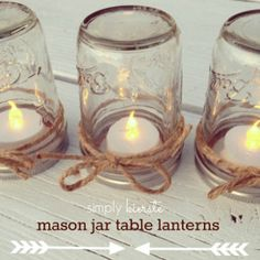 Dreamy Mason Jar Table Lanterns | AllFreeHolidayCrafts.com