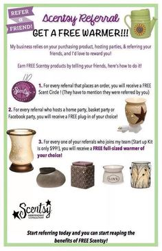 Scentsy Referral Flyer ~ https://raguill.scentsy.us Please be sure to visit me on FACEBOOK also at Your Escential Consultant Rose Thank you and God bless~~