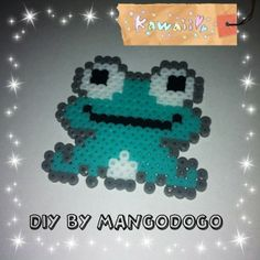 Frog perler beads by mango_dogo_shop
