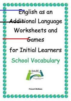 ESL / EAL / ELL /EFL Vocabulary worksheets and games for Initial Learners Other Ways To Say, Uppercase And Lowercase Letters, Vocabulary Worksheets, Letter Recognition, Ell, Writing Skills, Lower Case Letters, Rubrics, Teacher Resources