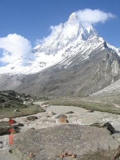 Shivling peak view from tapovan uttrakhand india