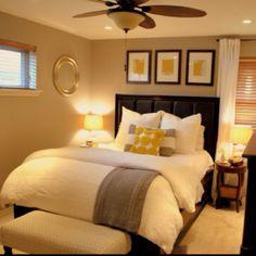 Guest bedroom organization. Simple decor and design. Score!