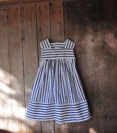alternating striped dress