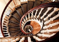 Historic Old State House Antique Spiral Staircase in Boston