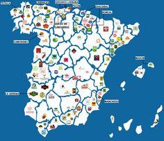 Mapa de los quesos Españoles