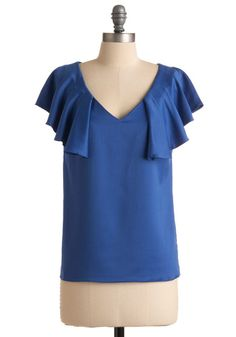 frilled collar lilts are adorable! Dress up jeans with a interesting top