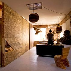 the cave shares a mixed use of office/sleeping functions, very open during the day and closed and private at night. | design*sponge