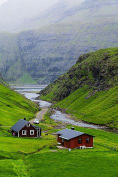 """Houses in Saksun, Faroe Islands."" (Photo: Justine Kibler)"
