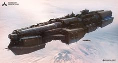 Concept spaceship art by Drock Nicotine. Keywords: boundary apocalypse destroyer championship imperial majesty digital concept spa...