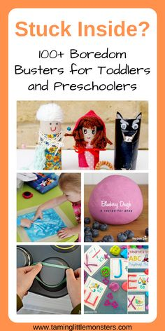 Are you stuck inside? Check out this list of simple indoor activities for toddlers and preschoolers. You can use them for rainy days or summer holidays. There are 100+ arts and crafts, science experiments, sensory activities, free printable and more.  #toddler #preschooler #rainydays #STEM #sensory #artsandcrafts #freeprintables #finemotor