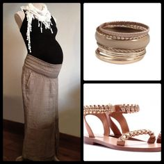 Adorable maternity outfit for the summer