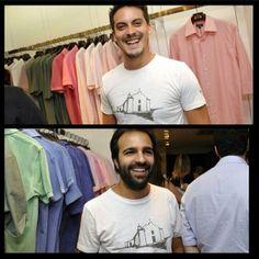 """Nossa camiseta """"Trancoso"""" é TOP!  Na foto, o Guga Guizelini e o Bruno Dias da Haute já estão usando a deles.   Já na loja e no e-commerce.   Acessem: http://loja.loopy.com.br #loopy #loopyoficial #loopyteam #vesteloopy #2014deloopy"""