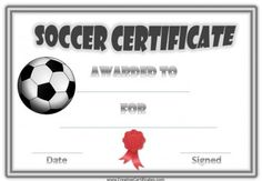 1000 images about soccer on pinterest award for Soccer certificate templates