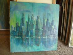 NYC skyline, Rico Tomaso, Mid-Century, DAC Collection - Donald Art Company Collection