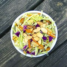 Asian Broccoli Slaw - If your family loves traditional cole slaw, this is the perfect healthy swap.