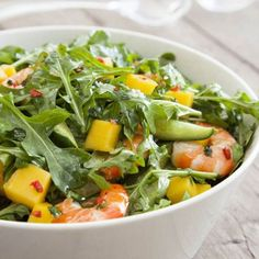 Enjoy this Mango and Prawn Salad Recipe from Australian Mangoes. Collect a range of Australian Mango recipes into your own online recipe book. Seafood Recipes, Dinner Recipes, Cooking Recipes, Healthy Recipes, Healthy Christmas Recipes, Prawn Recipes, Cooking Fish, Cooking Steak, Cooking Games
