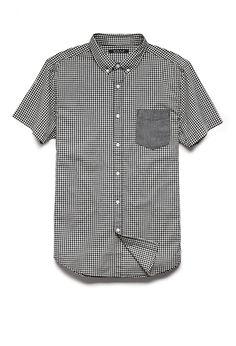 Gingham Plaid Pocket Shirt | 21 MEN #21Men