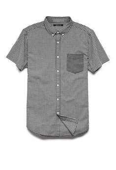 Gingham Plaid Pocket Shirt | 21 MEN #21Men