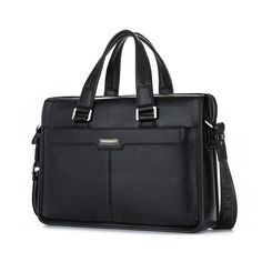 """66.16$  Watch now - http://ali6g3.worldwells.pw/go.php?t=32701103963 - """"Brand P.kuone men briefcase genuine leather business bag 14"""""""" leather laptop briefcase shoulder bags men's messenger travel bags"""" 66.16$"""