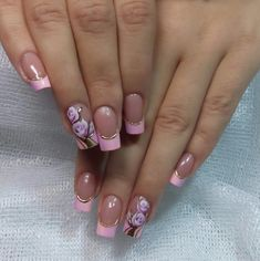 Фотография Colorful Nail Designs, Nail Designs Spring, Gel Nail Designs, Pretty Nail Art, Beautiful Nail Art, Hot Nails, Pink Nails, Nail Effects, French Nails