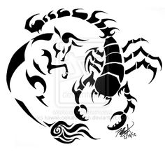 Taurus and Scorpio: Tattoo Design  by ~kawaii-oekaki-chan