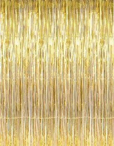 Did someone say gold fringe curtain? Sign me up! This foil fringe curtain is exactly what you need for your next big bash. Makes perfect party decorations as ba