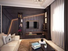Home Decoration; TV Wall Built In; Tv Unit Design, Tv Wall Design, Wall Shelves Design, Modern Interior Design, Interior Architecture, Tv Cabinet Design Modern, Contemporary Architecture, Tv Unit Bedroom, Bedroom Tv Cabinet