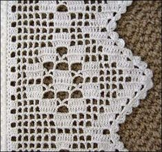 This Pin was discovered by Hul Crochet Edging Patterns, Crochet Lace Edging, Crochet Motifs, Crochet Borders, Crochet Doilies, Crochet Gifts, Crochet Baby, Knit Crochet, Fillet Crochet